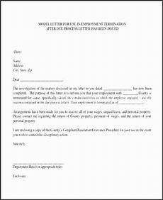 Employment Termination Letter Template Free 8 Disciplinary Letter Templates Sampletemplatess