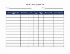 Daily Call Log Sheet Call Log Templates Charlotte Clergy Coalition