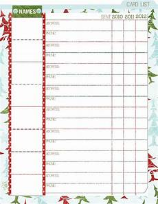 Christmas Card List Organizer Paper Crafting Obsession Christmas Planner Free Printable