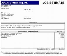 Job Estimates 13 Free Sample Job Estimate Form Printable Samples
