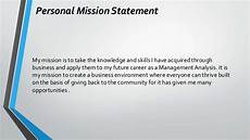 Examples Of Personal Mission Statements For Career Leontae Caldwell Career Portfolio