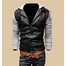 slim fit coats for black buy mens black grey slim fit stylish leather jacket with