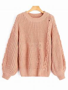 stricken pullunder 36 chunky cable knit sweater rosegal