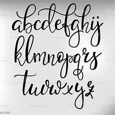 Cursive Free Fonts Handwritten Brush Style Calligraphy Cursive Font Stock