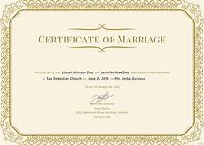 Certificate Format Template Free Marriage Certificate Template In Psd Ms Word