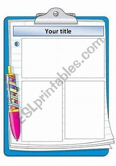 Clipboard Template English Worksheets Clipboard Template