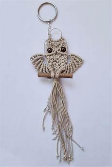 macrame owl keychain crafts