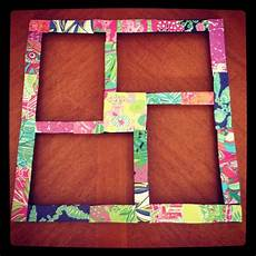 lilly pulitzer picture frame made from lilly planner paper
