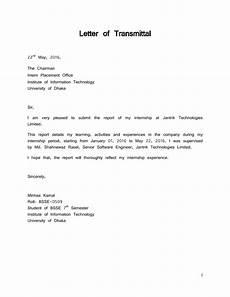 Transmittal Letter Templates Letter Of Transmittal