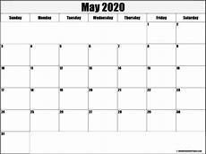 May 2020 Calendar Blank May 2020 Blank Calendar Collection