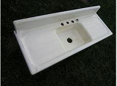 Cast Iron Farmhouse Kitchen Sink Vintage Modern Single Basin 5 Feet Long, Made in USA,American