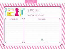 recipe cards with template paper designs friday freebee printable recipe cards