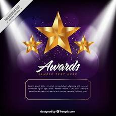 Golden Stars Award Background Vector Free Download