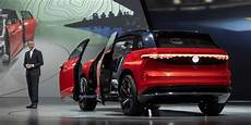volkswagen id 2019 vw shows large e suv id roomzz for launch in china