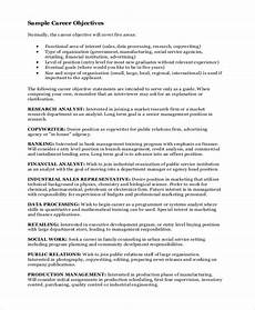Career Goal Statement Free 7 Sample Career Objective Statement Templates In Ms