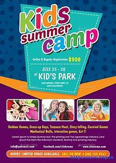 Summer Camp Pamplets 50 Best Kids Summer Camp Flyer Print Templates 2020