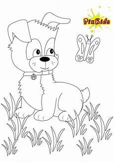 ausmalbild kleiner hund kostenlose malvorlagen