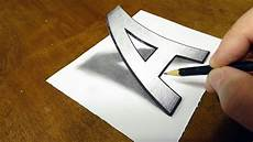 Drawing 3d Very Easy Drawing 3d Letter A Trick Art On Paper With