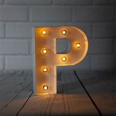 Metal Letters With Lights Wholesale White Marquee Light Letter P Led Metal Sign 8 Inch