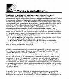 Sample Buisness Report Free 23 Sample Business Reports In Google Docs Ms Word