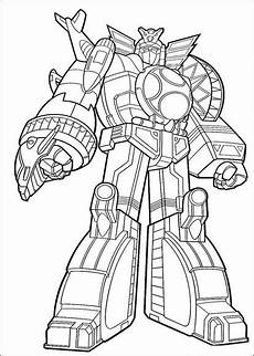 Supercoloring Robot Power Ranger Megazord Coloring Page Power Rangers