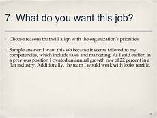 Why Do I Want The Job Life Of Information Top 10 Interview Questions And Best