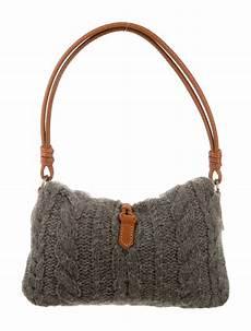 valentino cable knit shoulder bag handbags val47612