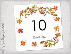 Fall Letters Template Printable Fall Table Number Template Diy Number Templates