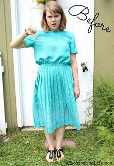 80 s pleated dress to fabulous skirt diy a blossoming