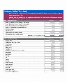 Home Budget Worksheets Free 6 Sample Home Budget Worksheet Templates In Pdf