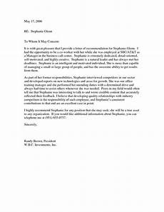 Coworker Letter Of Recommendation Recommendation Letter Coworker Work Reference Letter