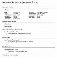 Agenda Office 13 Free Sample Office Meeting Agenda Templates Printable