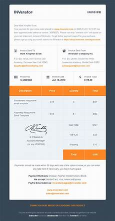 html receipt template email invoice template invoice sle template