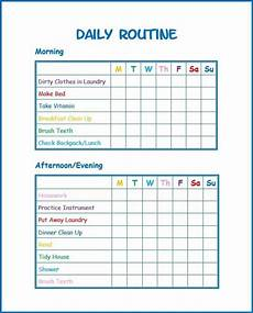 Printable Daily Schedule Kids Use This Free Kids Daily Routine Printable To Develop Good