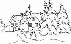 Kostenlose Malvorlagen Winterlandschaft Ausmalbilder Malvorlagen Winterlandschaft Kostenlos