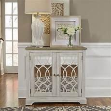 liberty furniture 2 door mirrored accent cabinet 2001 ac3634
