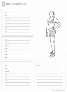 Free Printable Body Measurement Chart Body Measurement Chart Fitness Tracker