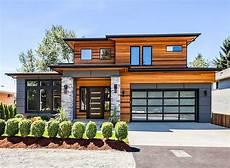 modern prairie house plan with tri level living prairie