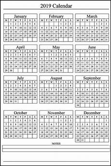 Printable 2020 12 Month Calendar Free Printable 2019 Calendar 12 Month Calendar Printable