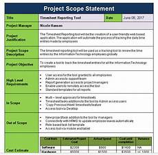 Project Scope Template Word Project Scope Statement Template Download Now Free
