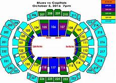 St Louis Blues Seating Chart View Washington Capitals Vs St Louis Blues Sprint Center