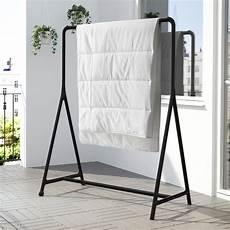 indoor clothes rack turbo clothes rack indoor outdoor black ikea