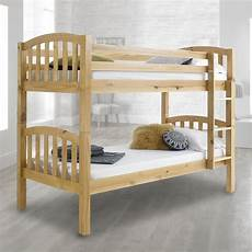 american solid pine wooden bunk bed frame 3ft single