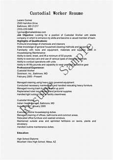 Custodian Resume Resume Samples Custodial Worker Resume Sample