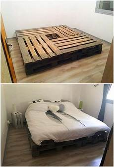 How To Make A Pallet Bed Frame With Lights Inexpensive Diy Wood Pallet Ideas And Projects No Place