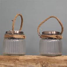 Jam Jar Garden Lights Two Falmouth Jar Solar Garden Lantern Lights By Garden