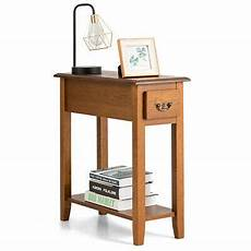 end table bedside sofa end table narrow nightstand w