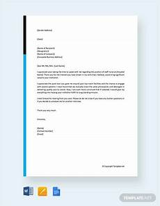 Thank You Letter After Nursing Interview Free 17 Sample Thank You Letters After Job Interview In