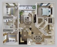 3 Bedroom Condo 3 Bedroom Apartment House Plans