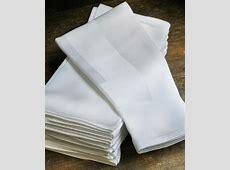 White 100% Egyptian Cotton Damask Dinner Napkins   Table